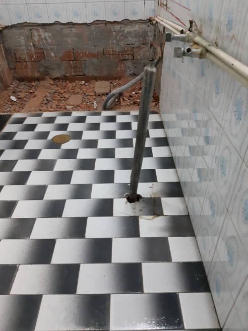 reforma de baño retirar lavabo